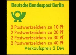 Berlin, MH 9 d I, postfrisch, enger Durchstich, Mi. 25,- (2972)
