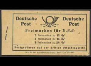 All. Bes., MH 50 XXXII, postfrisch mit Klammer-Abart, Mi. 80,-