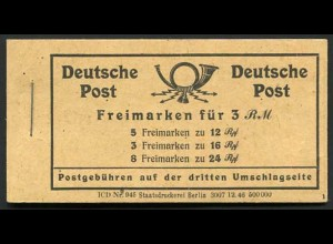 All. Bes., MH 50 RLV I, postfrisch, Mi. 70,-