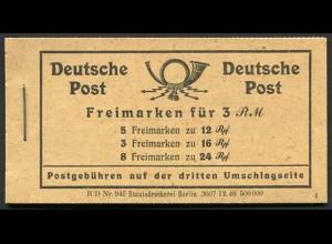 All. Bes., MH 50 RLV VIII, postfrisch, Mi. 90,-