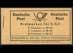 All. Bes., MH 50 RLV XLVI postfrisch, Mi. 150,-