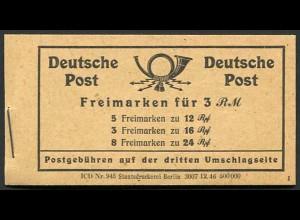 All. Bes., MH 50 RLV XXII, postfrisch, Mi. 80,-
