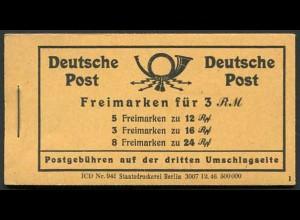 All. Bes., MH 50 RLV XXVI, postfr., Abart 'Deckel glatt statt gemasert'