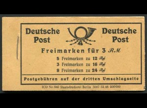 All. Bes., MH 50 RLV XXXVII, postfr., Deckel glatt statt gemasert, Mi. 60