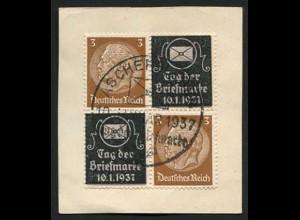 Dt. Reich, Privat-Zd. P-V 1, Briefstück, Mi.-Handbuch 40,- (3248)