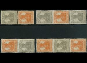 Dt. Reich, S 11 a - S 14 a, postfrisch, kpl. Serie, gepr. BPP, Mi. 110,- (3261)
