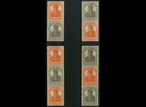 Dt. Reich, S 11 b - S 14 b, postfrisch, kpl. Serie, ungeknickt, Mi. 30,- (3263)