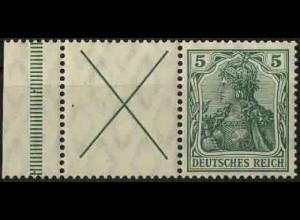 Dt. Reich, W 1.4 LR 1, postfrisch, ungeknickt, Mi. 900,- (3302)