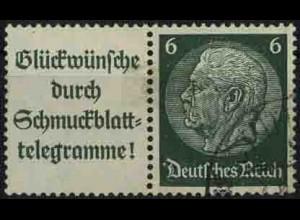 Dt. Reich, W 81 PF I, gestempelt, mit Plattenfehler, Mi. 150,- (3325)