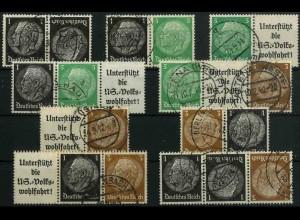 Dt. Reich, K 21 - WK 5 (EGB 1), gestempelt, kpl. Serie, Mi. 27,- (3344)