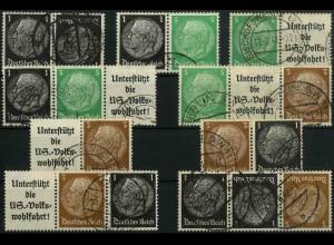 Dt. Reich, K 21 - WK 5 (EGB 1), gestempelt, kpl. Serie, Mi. 27,- (3345)