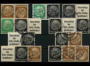 Dt. Reich, K 22 - WK 6 (EGB 2), gestempelt, kpl. Serie, Mi. 31,- (3350)