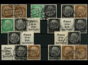 Dt. Reich, K 22 - WK 6, (EGB 3), gestempelt, kpl. Serie, Mi. 42,- (3353)