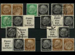 Dt. Reich, K 22 - WK 6, (EGB 3), gestempelt, kpl. Serie, Mi. 42,- (3354)