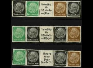 Dt. Reich, EG-Str. 1 - 3, postfrisch, ungeknickt, Mi. 16,50 (3355)