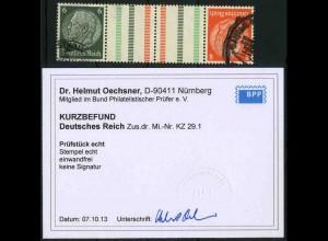 Dt. Reich, KZ 29.1, gestempelt, Befund BPP, Mi. 140,- (3389)