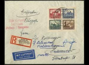 Dt. Reich, Bl Hz 1, Block-Zd. auf Lp.-Sammlerbrief, Mi.-Handbuch 700,- (3399)