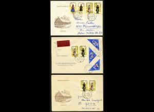 DDR, 1074-79, sechs Briefe mit versch. Zd., Mi. ca. 70,-