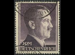 Dt. Reich, Mi. 800 B, gestempelt, 1, gepr. BPP, Mi. 80,-