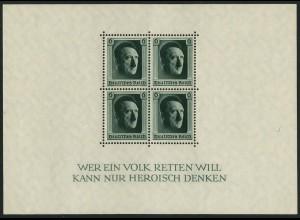 Dt. Reich, Bl. 7, postfrisch, Mi. 70,- (3945)