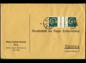 Dt. Reich, WZ 9, portogerechte Einzelfrankatur, Mi.-Handbuch 100,- (4058)