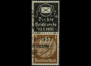 Dt. Reich, Zd. Tag der Marke, Mi. P-S 3, gestempelt,