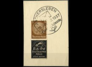 Dt. Reich, Zd. Ka-Be, Mi. P-S 5, Briefstück mit SST