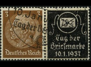 Dt. Reich, Zd. Tag d. Marke, Mi. P-W 1, gestempelt