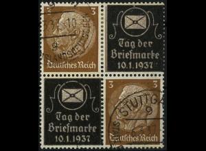 Dt. Reich, Mi. P-V 1, Zd.-Viererblock gestempelt, Mi-Handbuch 40,- (4109)