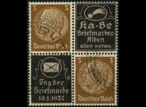 Dt. Reich, Mi. P-V 5, zwei Werbungen, gestempelt, Mi.-Handbuch 100,- (4116)