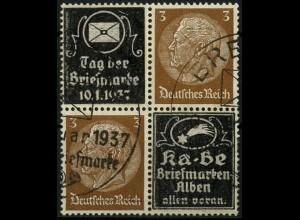 Dt. Reich, Mi. P-V 6, zwei Werbungen, gestempelt, Mi.-Handbuch 100,- (4121)