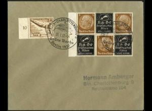 Dt. Reich, Mi. P-V 4 + P-S 5 auf Orts-Brief, Mi.-Handbuch 65,- (4167)