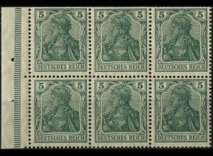 Dt. Reich, HBl. 2 I a B, Friedensdruck, postfrisch, Mi. 600,-