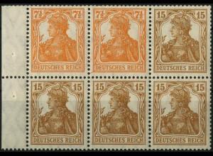 Dt. Reich, HBl. 12 aa A, postfrisch, Befund BPP, Mi. 1500,- + 100%