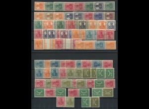 Dt. Reich, Sammlung Germania-Zusammendrucke, ungebraucht, Mi. 2000,- (4278)
