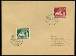 Dt. Reich, Mi. 816/17, auf Ersttagsbrief, Mi. 90,-