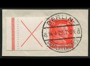 Dt. Reich, W 23 LR 1 auf Briefstück, Mi.-Handbuch 220,- (4318)