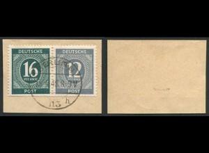 All. Bes., W 158, auf Briefstück, geprüft Schlegel BPP, Mi. 70,- ++