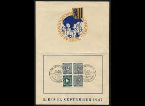 All. Bes., W 158, auf Gedenkblatt, Mi. 70,- ++