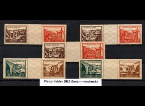 SBZ, WZd 1/2, postfrisches Lot mit Plattenfehler, Mi. 146,-