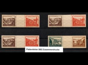 SBZ, WZd 1/2, postfrisches Lot mit Plattenfehler, Mi. 108,-