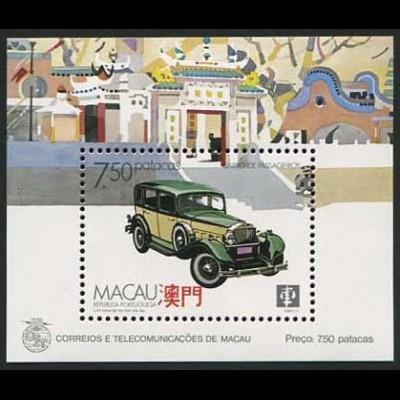 Macau, Block 8 (1988), postfrisch, Mi. 80,-