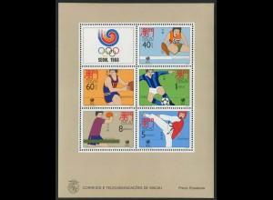 Macau, Block 9 (1988), postfrisch, Mi. 100,-