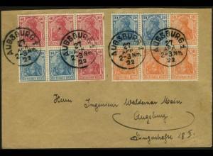 Dt. Reich, HBl. 29 + 31, auf Orts-Brief