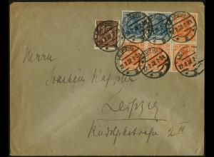 Dt. Reich, HBl. 31, auf Orts-Brief, gepr. Infla