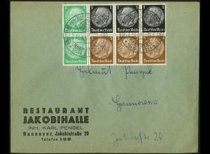 Dt. Reich, HBl. 81, als Einzelfrankatur auf Orts-Brief (4605)