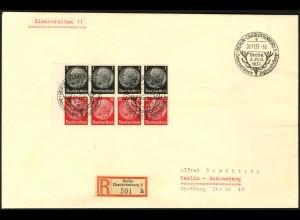 Dt. Reich, HBl. 90 B mit Rand, Einzelfrankatur Orts-R-Brief