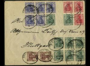 Dt. Reich, HBl. 2 II, portogerechter Fern-Brief