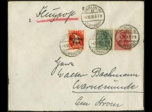 Dt. Reich, W 7 II, auf Luftpost-Brief, Mi.-Handbuch 60,- (4902)