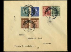Dt. Reich, W 8, Fern-Brief, gepr. BPP, Mi.-Handbuch 40,- (4910)
